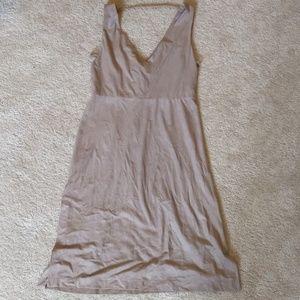 BCBG MAXAZRIA Nude Suedelike Material Dress Size 6
